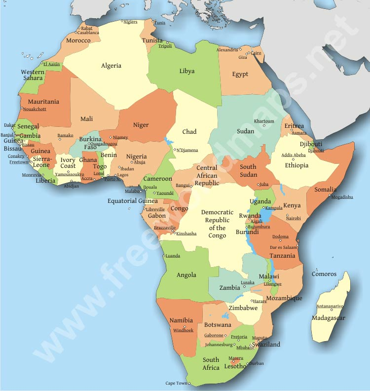Africa political map publicscrutiny Image collections