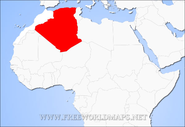 Where Is Algeria Located On The World Map - Algeria map