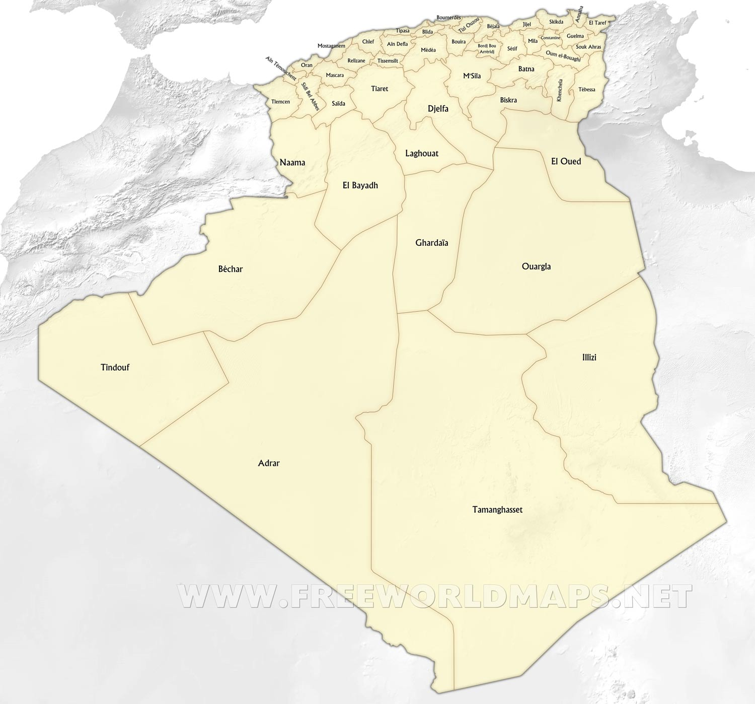 Algeria Maps By Freeworldmapsnet - Algeria map