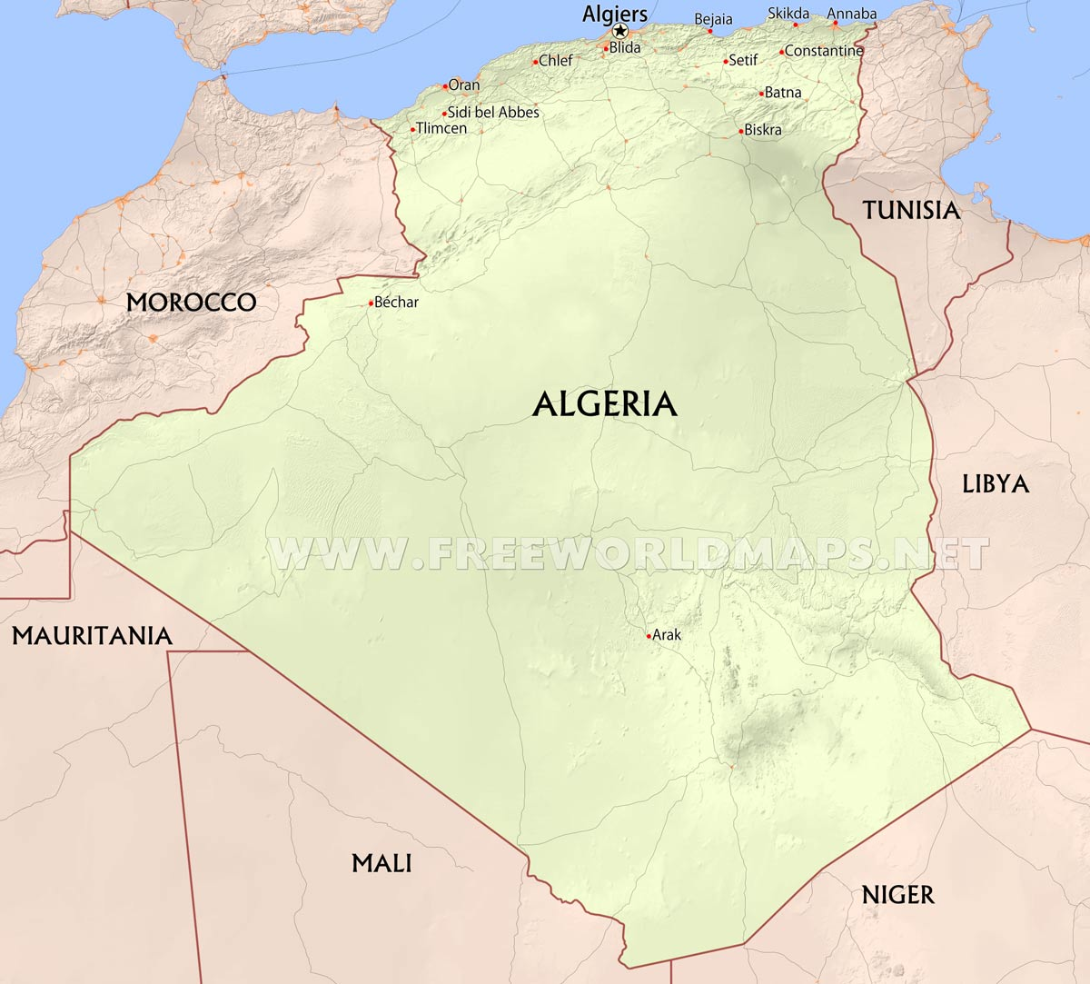 Algeria Maps By Freeworldmaps Net