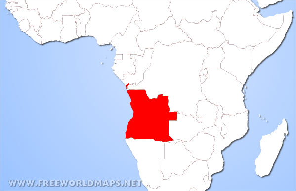 Angola Location In Africa