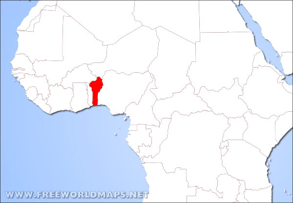 Where is Benin located on the World map?