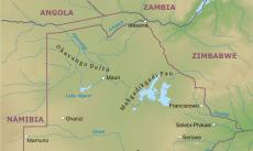 Where is Botswana located on the World map