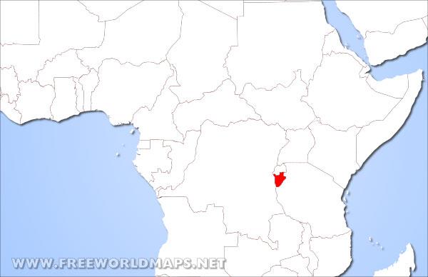 Where is Burundi located on the World map