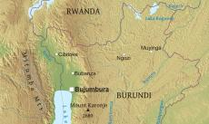 Where is Burundi located on the World map