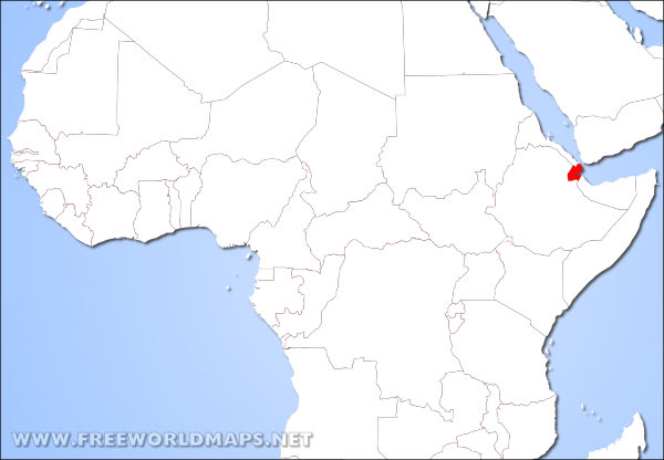 Djibouti On Africa Map.Where Is Djibouti Located On The World Map