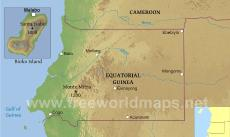 Where is Equatorial Guinea located on the World map?