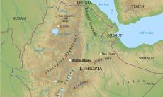 Where is ethiopia located on the world map physical map of ethiopia gumiabroncs Choice Image