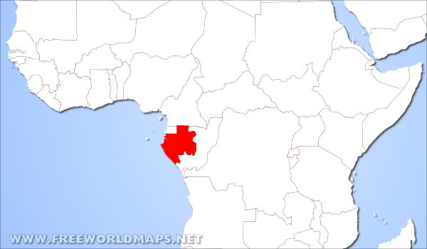 where is gabon located on the world map