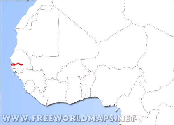 Gambia On Africa Map.Where Is Gambia Located On The World Map