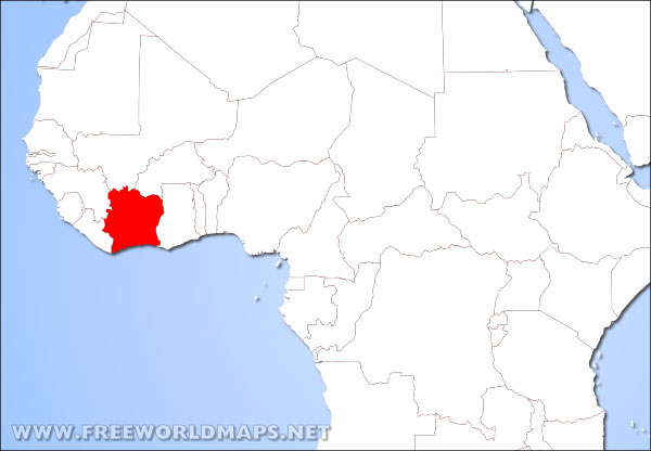 Where Is Ivory Coast Located On The World Map - Ivory coast map of africa