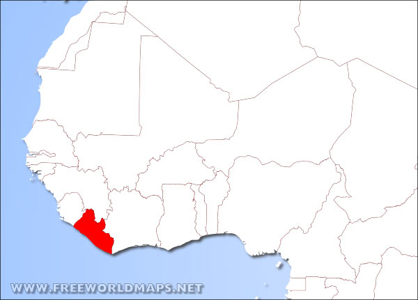 Where is liberia located on the world map liberia location in africa gumiabroncs Choice Image