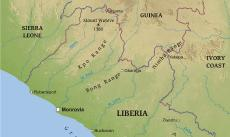 Where is liberia located on the world map physical map of liberia gumiabroncs Gallery