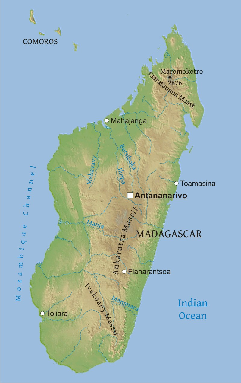 Madagascar Physical Map on physical map of lake tanganyika, physical map of southern italy, physical map of the canadian shield, physical map of bodies of water, physical map of republic of congo, physical map of the amazon, physical map of the virgin islands, physical map of california, mountain ranges in madagascar, physical map of peru, physical map of cape of good hope, physical map of orange river, physical map of cuba, physical map of nauru, physical map of u.s.a, physical map of turkey, physical map of new brunswick canada, major land features in madagascar, physical map of pampas, physical map of sweden,