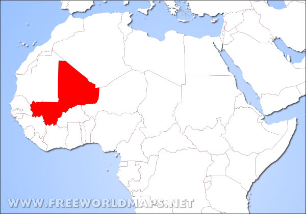 Where is Mali located on the World map
