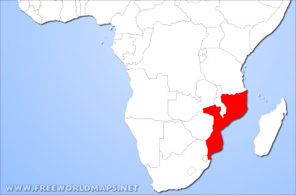 Where is mozambique located on the world map mozambique location in africa gumiabroncs Images