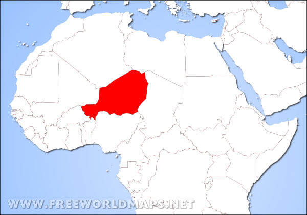 Where is Niger located on the World map?