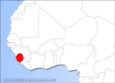 Sierra Leone Physical Map