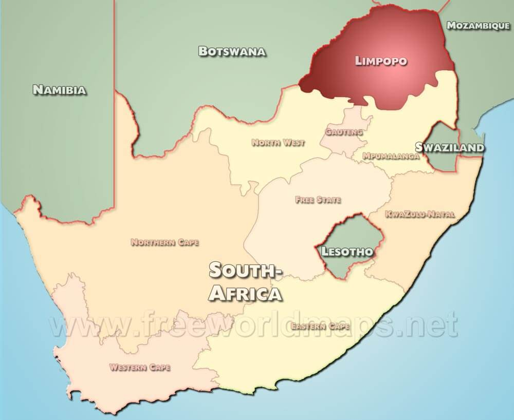 Limpopo map south africa limpopo map sciox Image collections