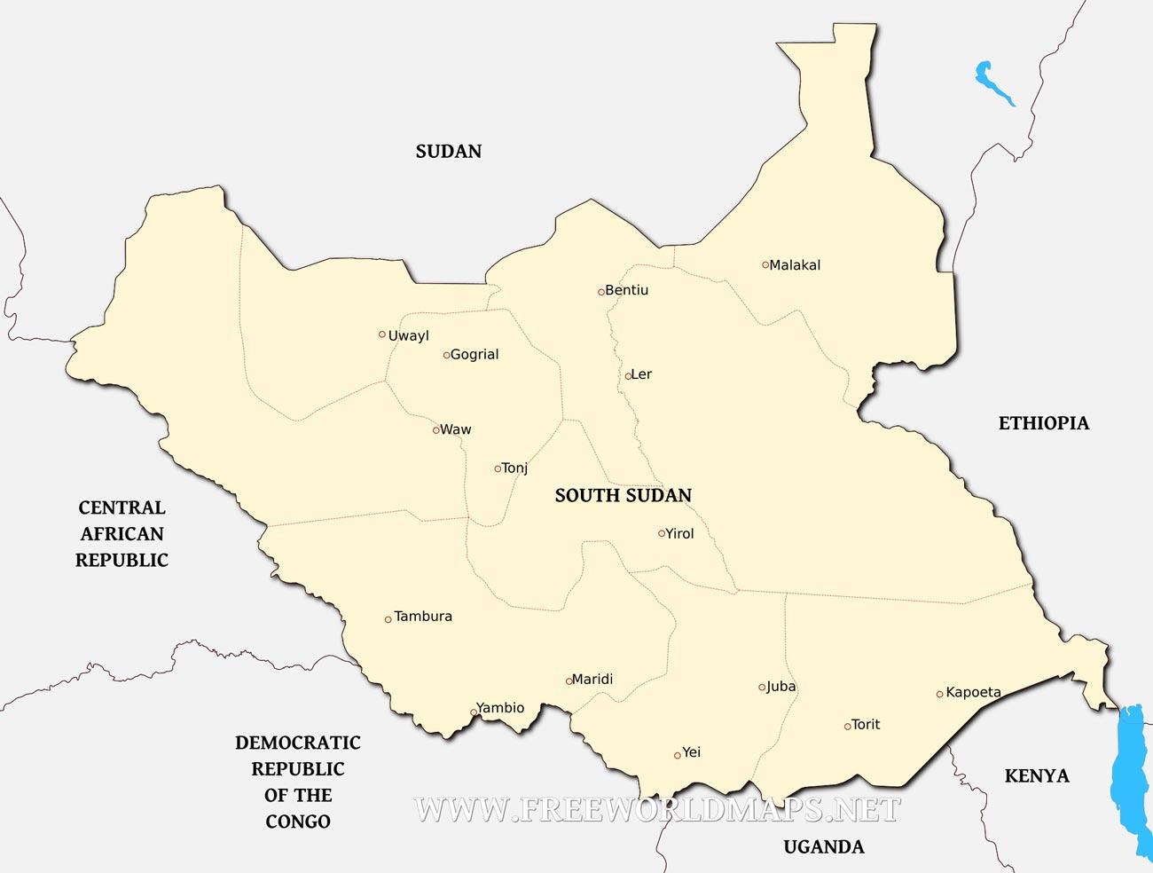 South Sudan Political Map
