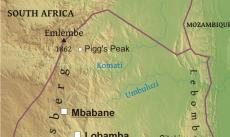 Where is Swaziland located on the World map