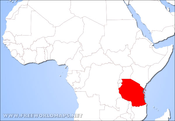 Where is tanzania located on the world map tanzania location in africa gumiabroncs Images