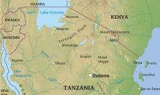 Serengeti Plain On Map Of Africa.Serengeti Map Tanzania