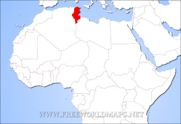 Where is Tunisia located on the World map