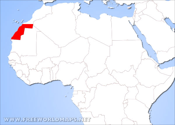 Where Is Western Sahara Located On The World Map - Western sahara map
