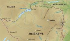 Where is Zimbabwe located on the World map?