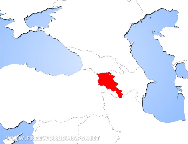 Where is Armenia located on the World map