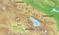Where Is Armenia Located On The World Map - Armenia physical map