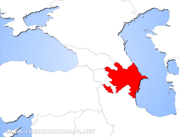 Where is azerbaijan located on the world map azerbaijan location highlighted on the world map azerbaijan location in asia gumiabroncs Choice Image