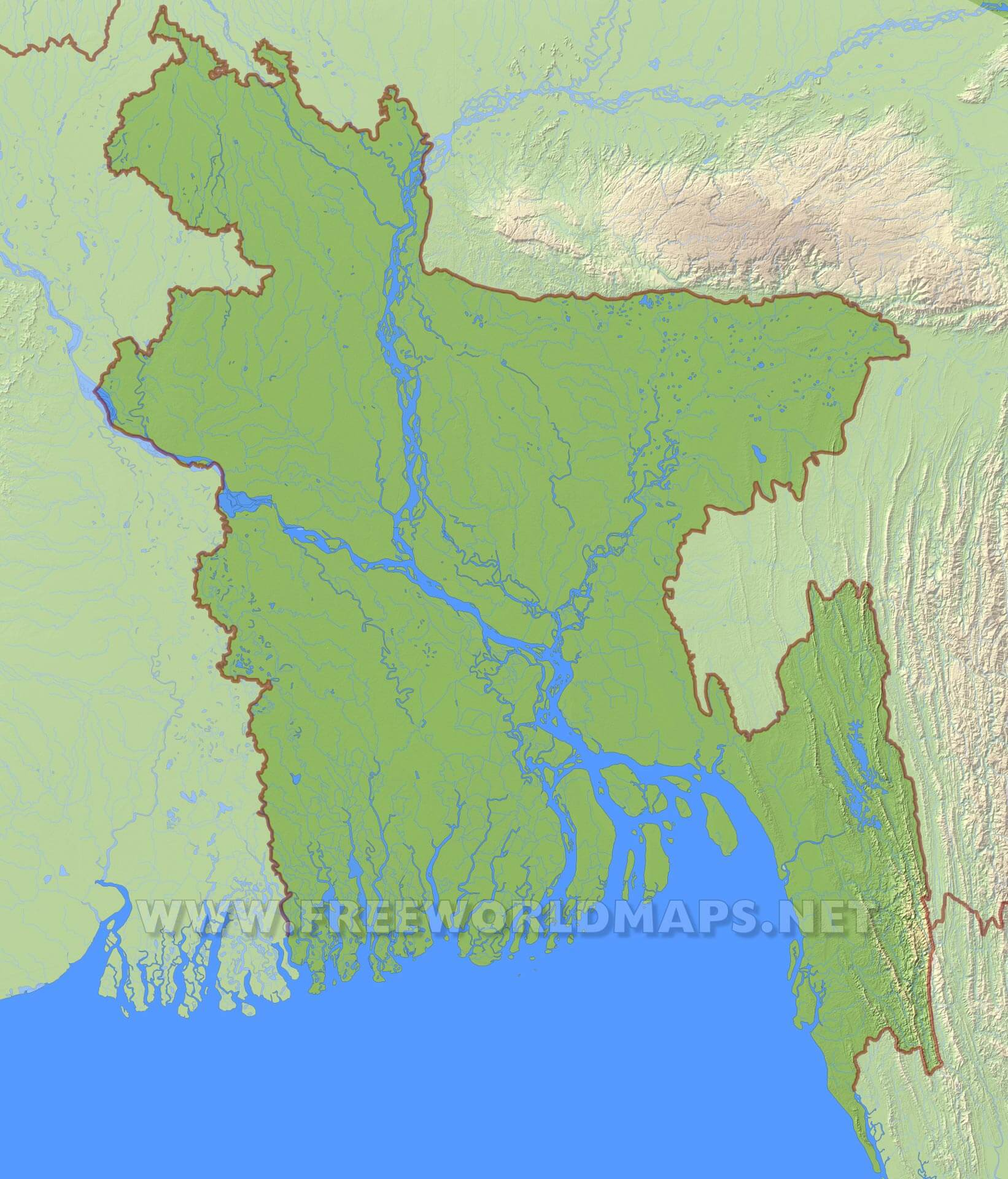 Bangladesh physical map bangladesh bangladesh hd map gumiabroncs
