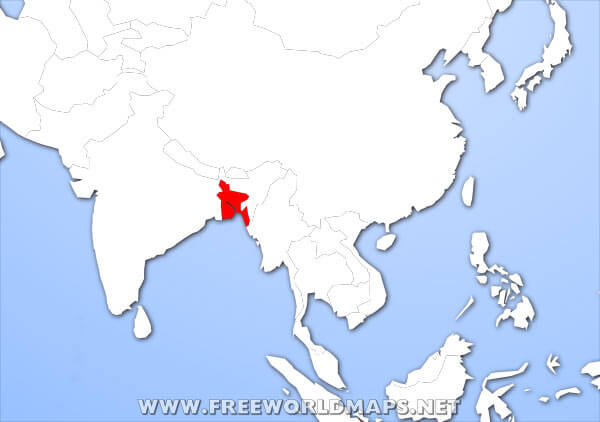 Where is Bangladesh located on the World map?
