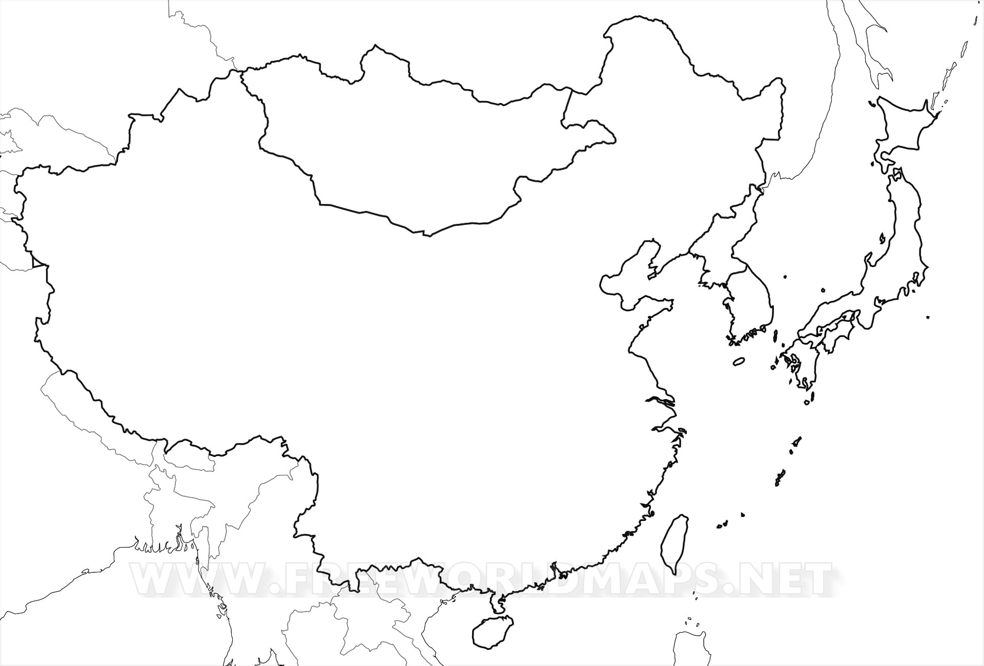 Blank Map Of East Asia My Blog - Asia blank map