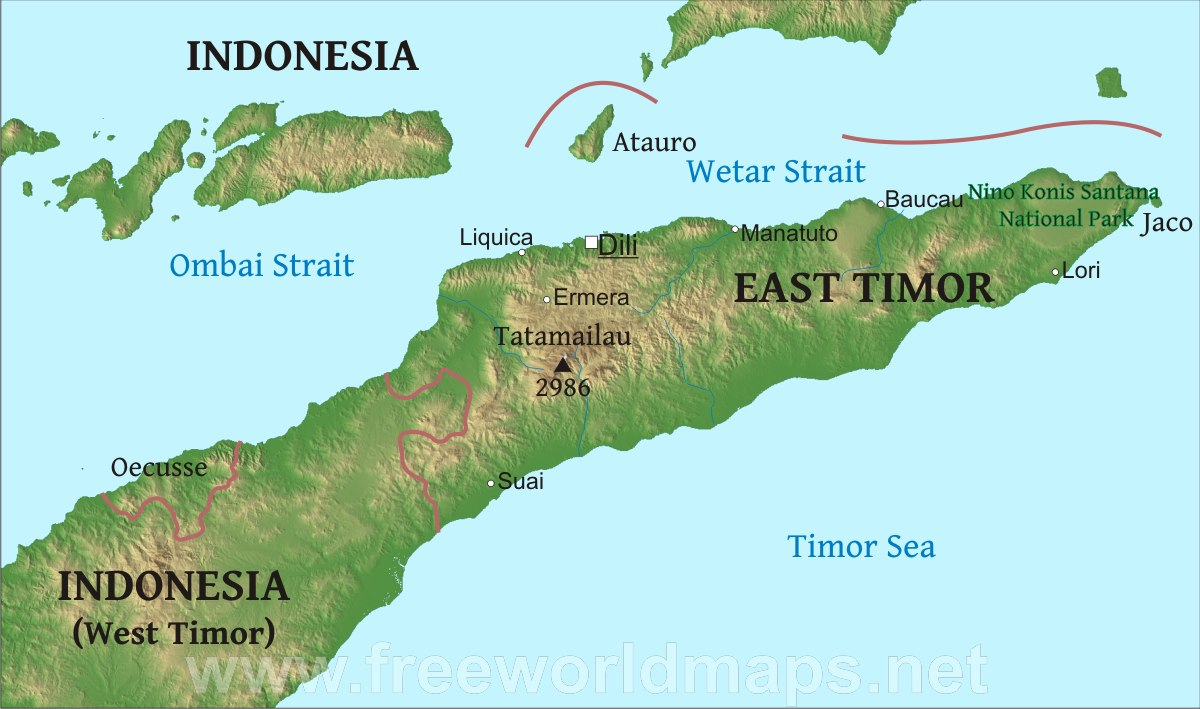 East Timor Asia Map