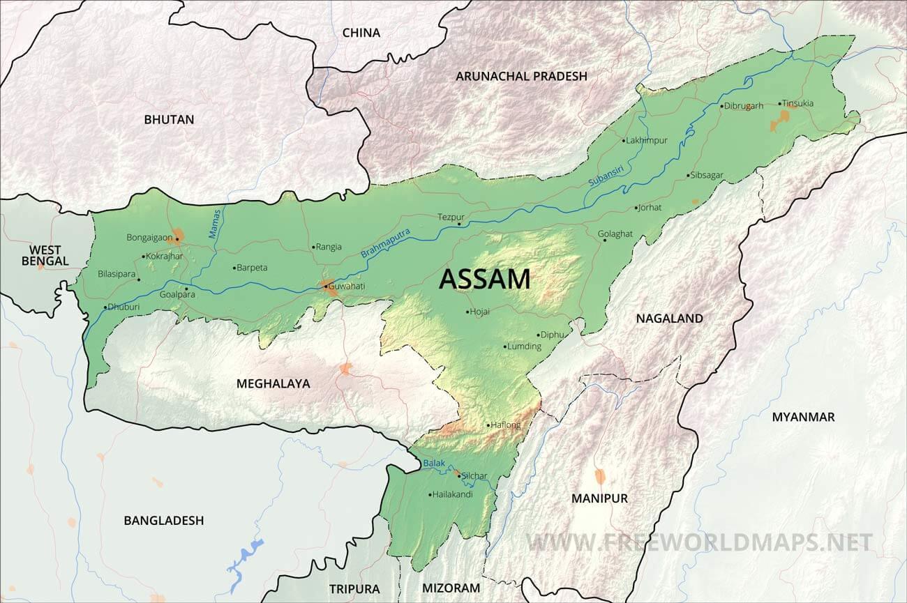 assam maps