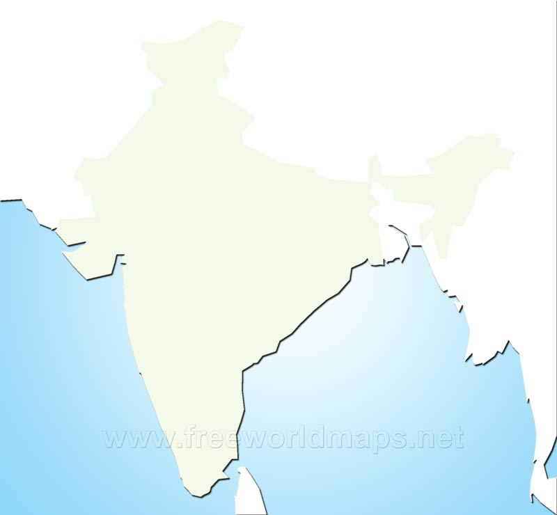 India Blank Map By Freeworldmapsnet - Outline map of south asia