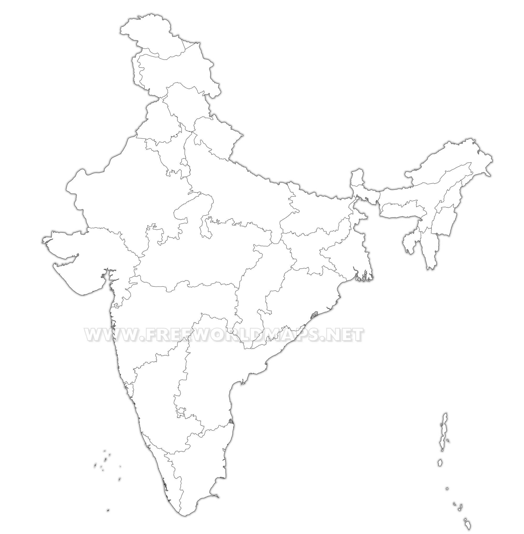 India political map india blank map hd gumiabroncs Images