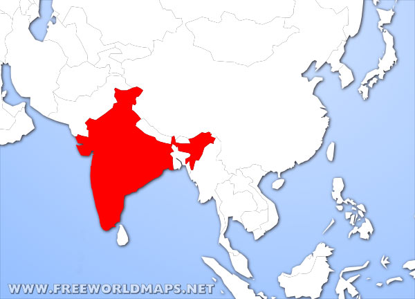 where is india located on the world map