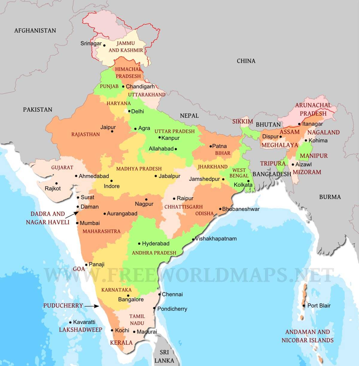 India political map gumiabroncs Image collections