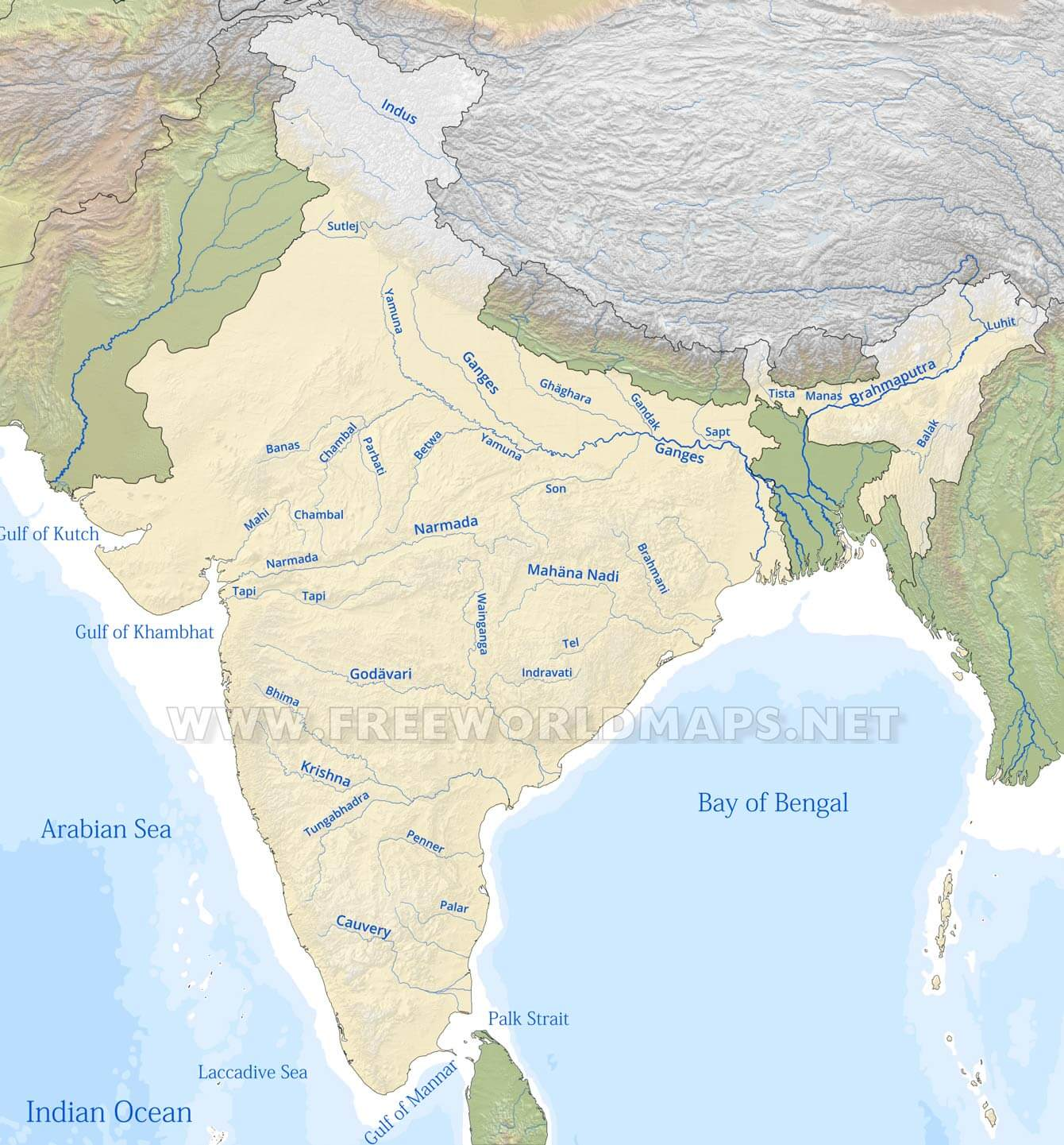 Physical map india rivers gumiabroncs Images
