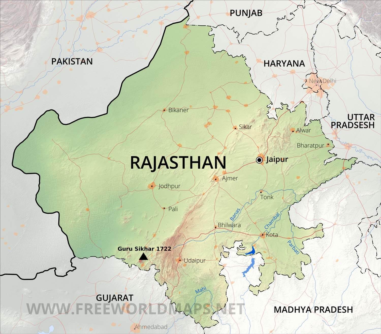 Rajasthan Maps