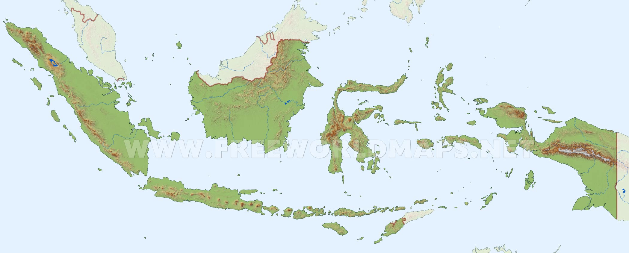 Indonesia physical map indonesia indonesia hd map gumiabroncs