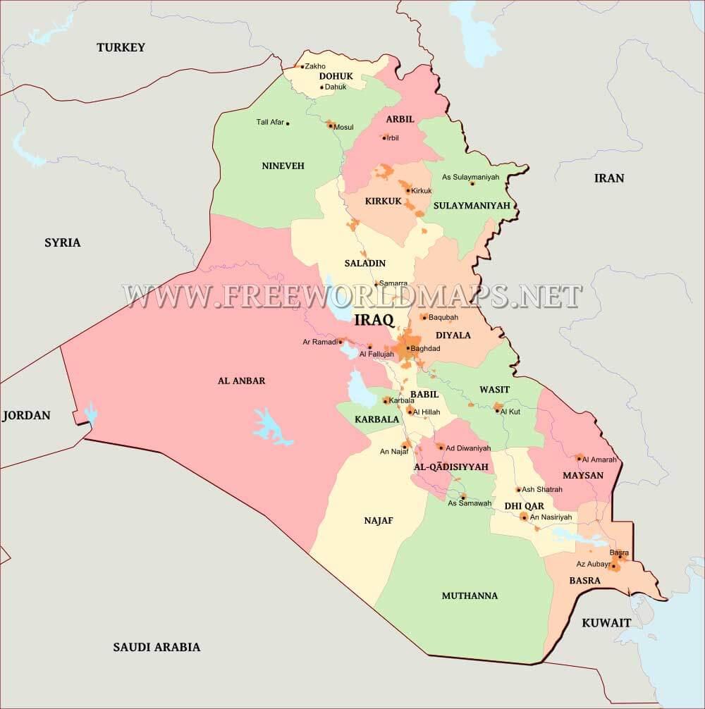 Iraq Maps – Map If Iraq