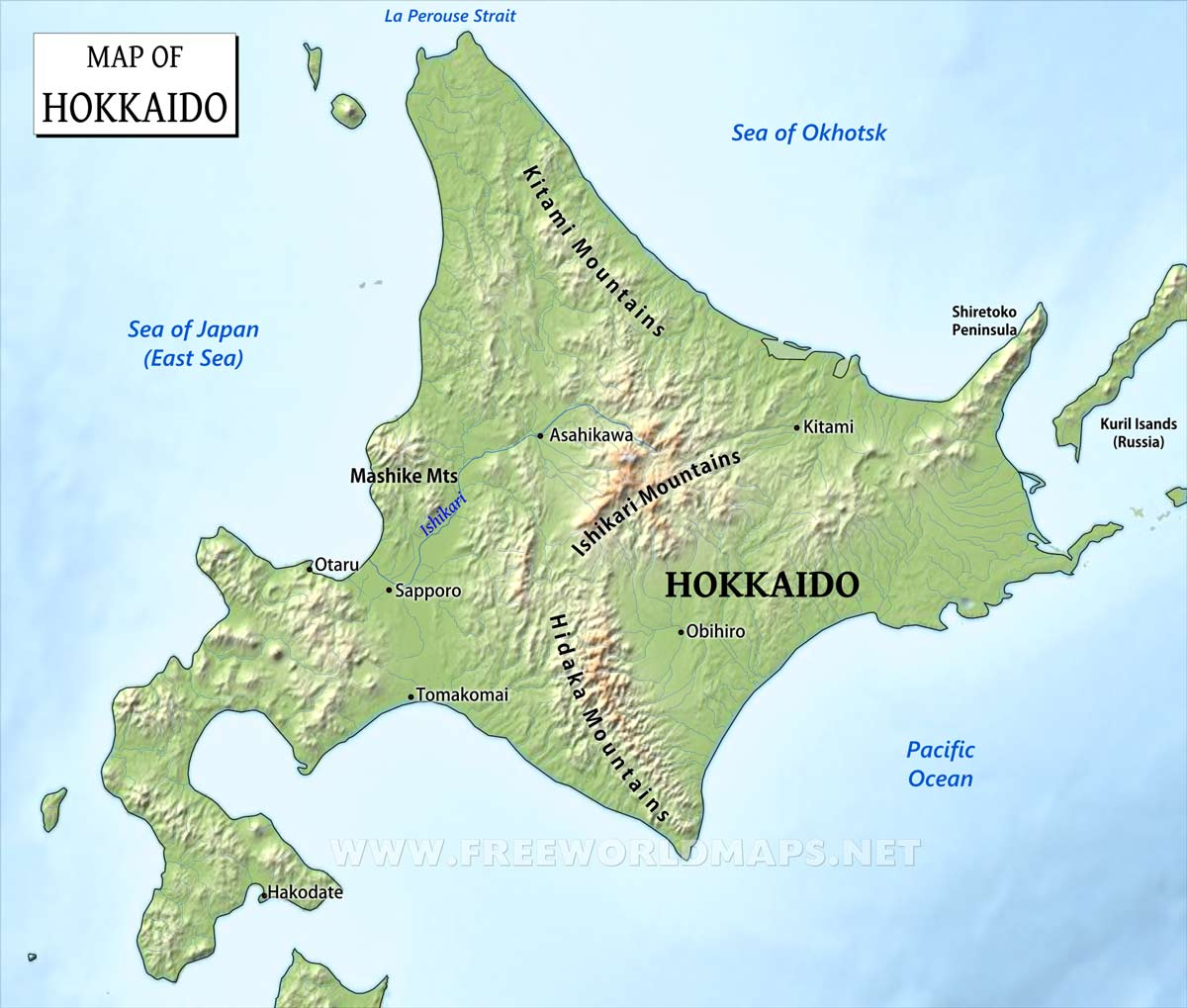 Hokkaido World Map.Hokkaido Maps