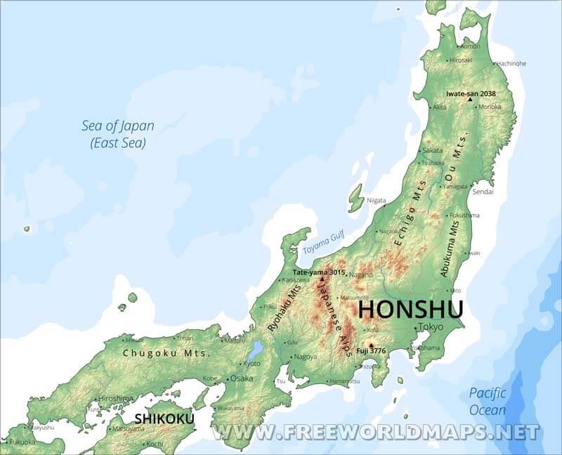 Island Of Honshu Cities