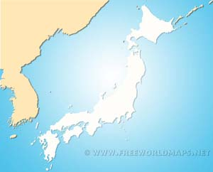 Japan Physical Map - Japan map outline