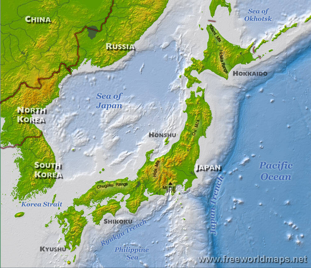 Japan physical map gumiabroncs Image collections